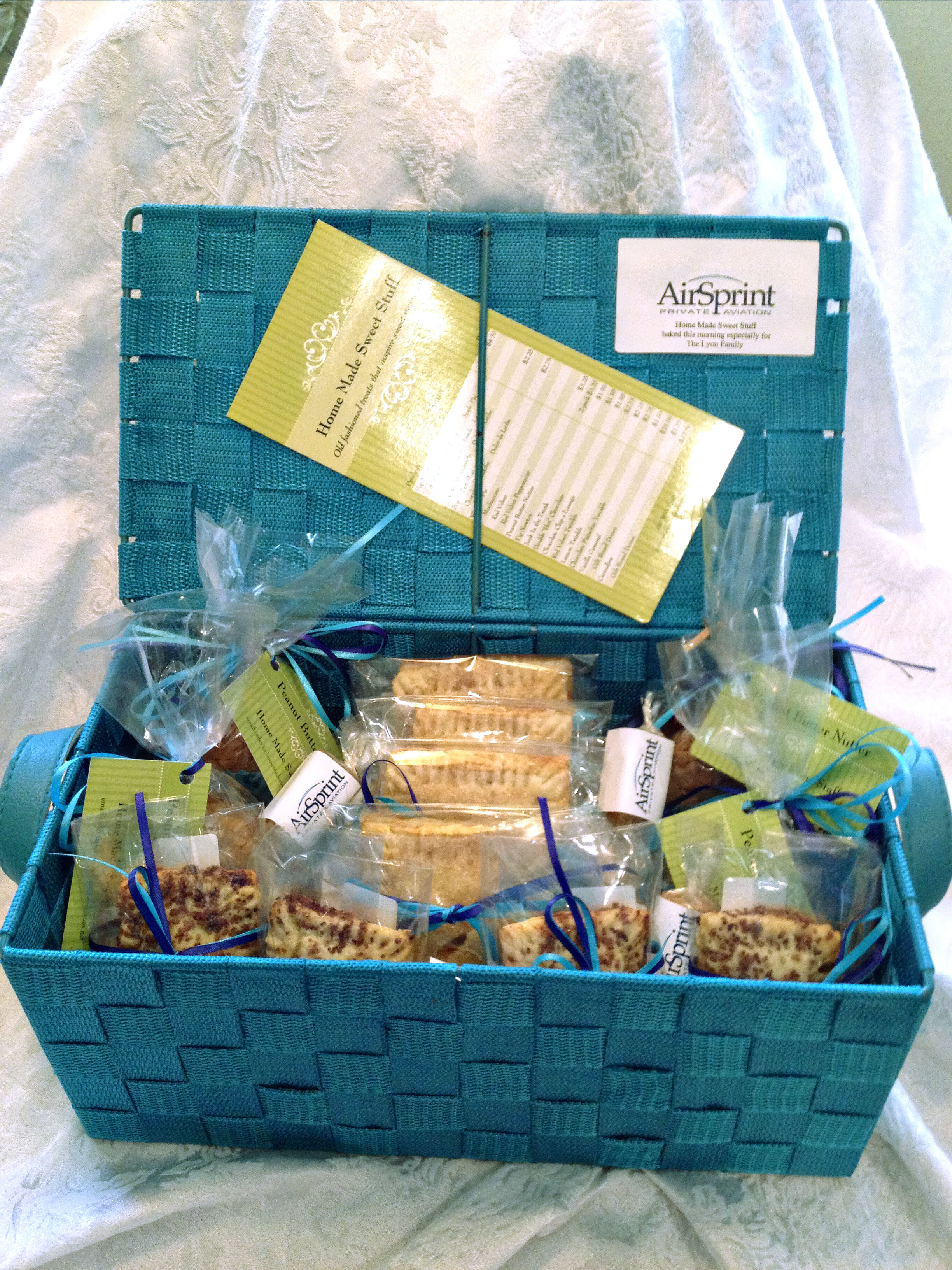Assorted baked goods and candies made to order home for Homemade baked goods gift basket ideas