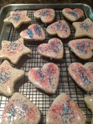 glazed shortbread cookies