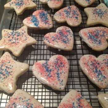 glazed shortbread cookies